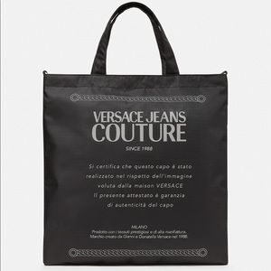Versace Jeans Etichetta Print Tote Bag